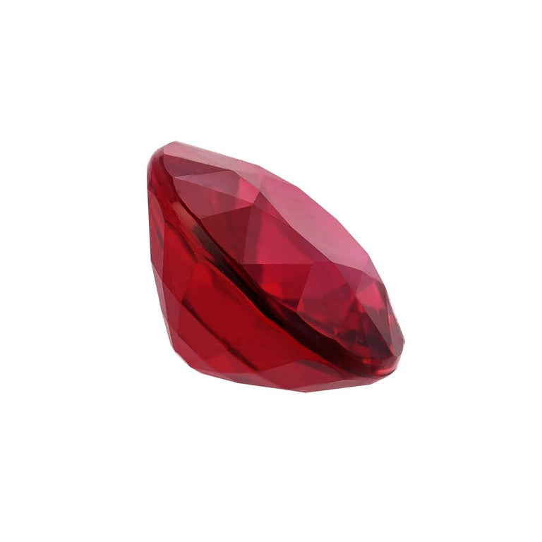Exceedingly fine 2.09 carat natural, no heat Ruby oval. This supreme, collection quality gem, is offered loose and would make an exceptional, unisex, custom made jewelry ring. The AGL gem certificate is attached to the images for your