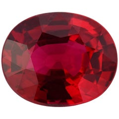 Ruby Unheated Oval 2.09 Carat AGL Certified No Heat