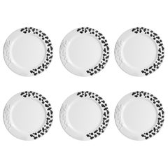 Ruccola Ettore Sottsass for Memphis-Milano Set of Six Plates