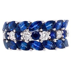 Ruchi New York Blue Sapphire and Diamond Ring