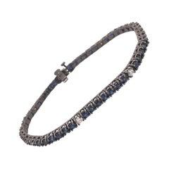 Ruchi New York Blue Sapphire and Diamond Tennis Bracelet