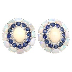 Ruchi New York Blue Sapphire And Ethiopian Opal Earrings