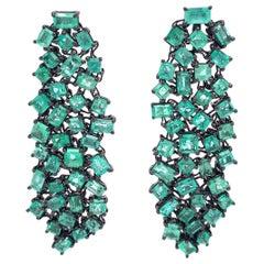 Ruchi New York Chandelier Emerald Earrings