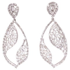 Ruchi New York Diamond Baguette Chandelier Earrings