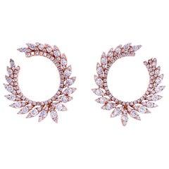 Ruchi New York Diamond C-Shape Earring