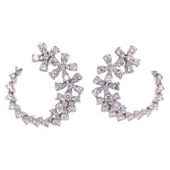 Ruchi New York Diamond C-Shape Earrings