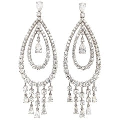 Ruchi New York Diamond Chandelier Earrings