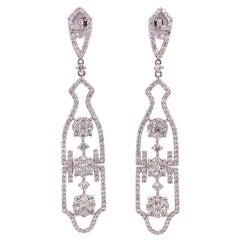 Ruchi New York Diamond Dangle Earrings