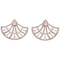 Ruchi New York Diamond Fan Stud Earrings