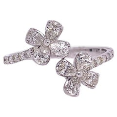 Ruchi New York Diamond Flower Bypass Ring