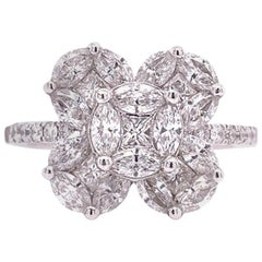 Ruchi New York Diamond Flower Ring