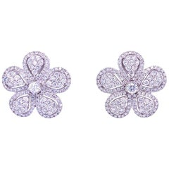 Ruchi New York Diamond Flower Stud Earrings