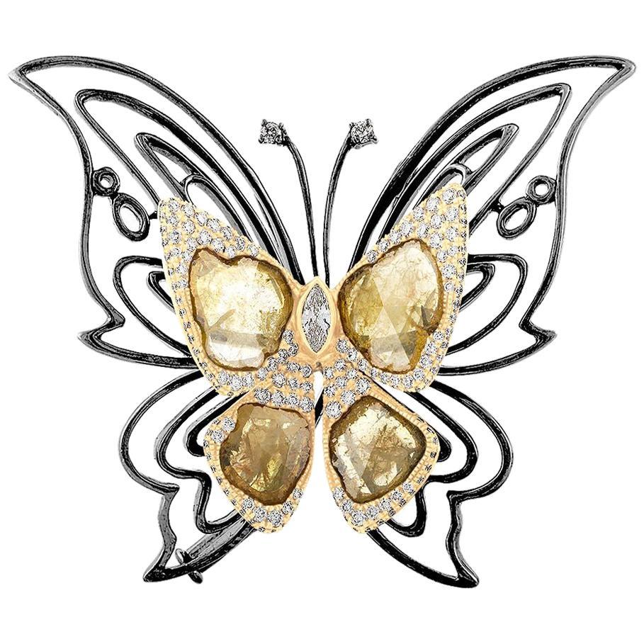 Ruchi New York Diamond Slice Pendant and Brooch