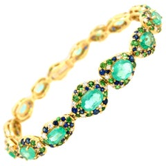 Ruchi New York Emerald and Blue Sapphire Bracelet
