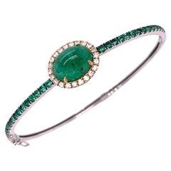 Ruchi New York Emerald and Diamond Bangle Bracelet