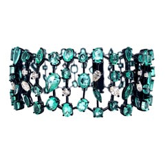 Ruchi New York Emerald and Diamond Bracelet