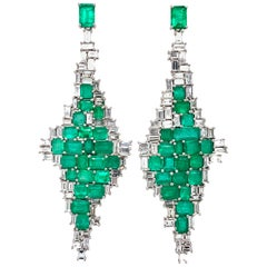 Ruchi New York Emerald and Diamond Chandelier Earrings
