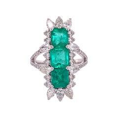 Ruchi New York Emerald and Diamond Ring