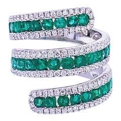 Ruchi New York Emerald and Diamond Statement Ring