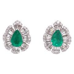 Ruchi New York Emerald and Diamond Stud Earrings