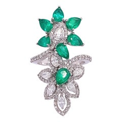 Ruchi New York Emerald & Diamond Ring