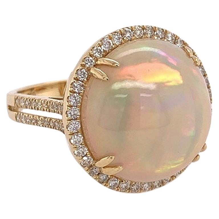 Ruchi New York Ethiopian Opal and Diamond Cocktail Ring