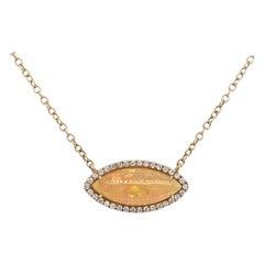 Ruchi New York Ethiopian Opal and Diamond Necklace