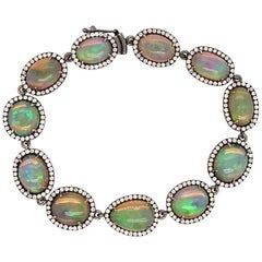 Ruchi New York Ethiopian Opal and Diamond Pavé Bracelet