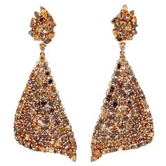 Ruchi New York Fancy Diamond Chandelier Earrings