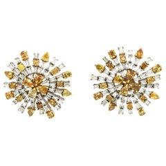 Ruchi New York Fancy Diamond Stud Earrings