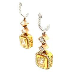 Ruchi New York Fancy Diamond Drop Earrings
