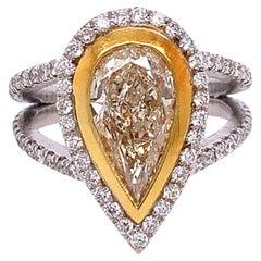 Ruchi New York Fancy Yellow Diamond Solitaire Ring