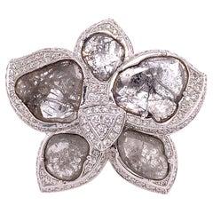 Ruchi New York Flower Slice Diamond Cocktail Ring