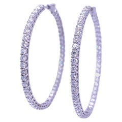 Ruchi New York In and Out Diamond Hoop Earrings