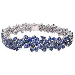 Ruchi New York Mismatched Blue Sapphire Gradient Bracelet