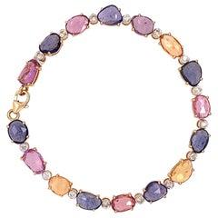 Ruchi New York Multi-Color Sapphire and Diamond Bracelet