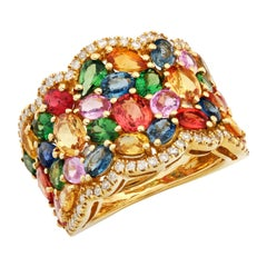 Ruchi New York Multi-Color Sapphire and Diamond Ring