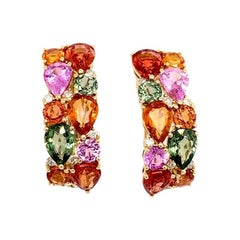 Ruchi New York Multi-Color Sapphire Earrings