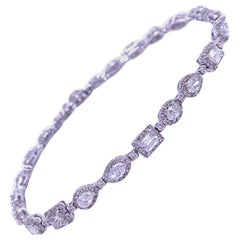 Ruchi New York Multi-Shape Diamond Tennis Bracelet