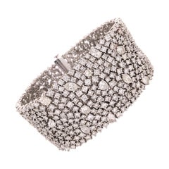 Ruchi New York Multi Shaped Diamond Mesh Style Bracelet