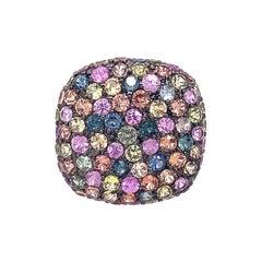 Ruchi New York Multicolor Sapphire Dome Ring