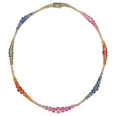Ruchi New York Multicolored Sapphire Rainbow Necklace
