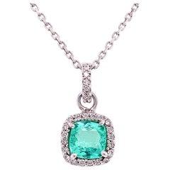 Ruchi New York Paraiba and Diamond Pendant Necklace
