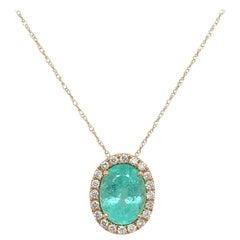 Ruchi New York Paraiba Tourmaline and Diamond Pendant