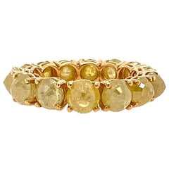 Ruchi New York Rose Cut Icy Yellow Diamond Eternity Band