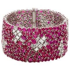 Ruchi New York Ruby and Diamond Bracelet