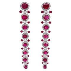 Ruchi New York Ruby and Diamond Earrings