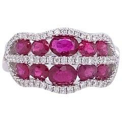 Ruchi New York Ruby and Diamond Ring