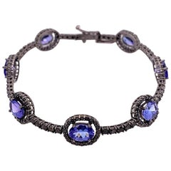 Ruchi New York Tanzanite and Black Diamond Bracelet