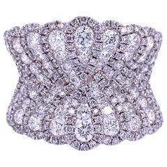 Ruchi New York Tapered Diamond Cocktail Ring